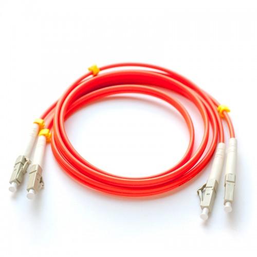Патч-корд оптический дуплексный LC-LC многомод 62,5/125 1м MDX-2LC-2LC/1-M6