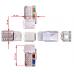 Модуль Keystone, RJ45, кат.6, UTP, 90 градусов,  со шторкой, белый, LAN-OK45U6/90-WH LAN-OK45U6/90-WH