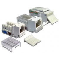 Модуль Keystone, RJ45, кат.6, UTP, 90 градусов,  со шторкой, белый, LAN-OK45U6/90-WH