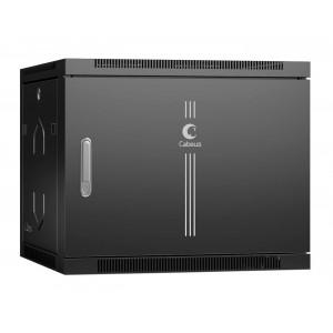 """Cabeus SH-05F-9U60/35m-BK Шкаф 19"""" 9U 600x350 телекоммуникационный настенный, дверь металл, черный"""