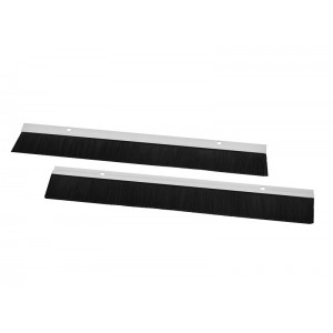 Комплект щеточного ввода в шкаф, универсальный, цвет черный КВ-Щ-55.420А-9005