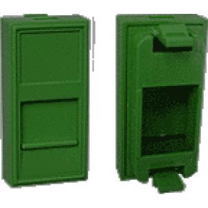Вставка 22.5x45, со шторкой, зеленый