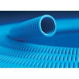 Труба гофрированная 16мм с протяжкой, ППЛ (бухта 100м), цвет синий