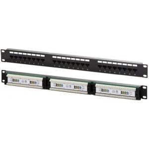 """Патч-панель 24 порта UTP 19"""", кат. 5е, 1U NM-PPU24"""