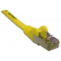Патч-корд RJ45 кат 6 FTP шнур медный экранированный LANMASTER 0.5 м LSZH желтый