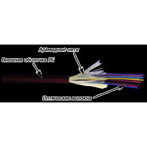 Кабель волоконно-оптический 8 волокон одномодовый, внешний, Distribution, PE, G.657, черный