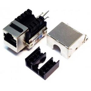 MDX-KEY45-F5e Кейстоун розеточный модуль Keystone RJ45, кат.5E FTP 90 градусов