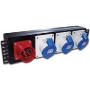 """Блок розеток 19"""" трехфазный, 1х3 IEC309, 32A 380V"""