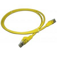 Патч-корд RJ45 UTP кат 5e шнур медный LANMASTER 0.5 м LSZH желтый