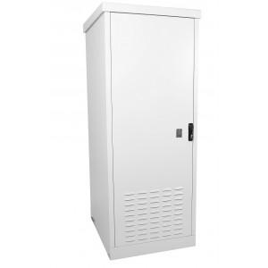 """Шкаф уличный 19"""" всепогодный напольный 12U (Ш700хГ900), две двери"""