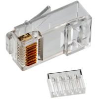 TWT-PL45-8P8C-V Коннектор со вставкой RJ45 UTP 8P8C универсальный, cat.5e, 100 шт.