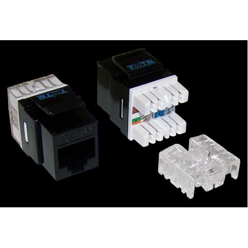 Модуль Keystone RJ45, Cat.6, UTP, 180 градусов, черный, TWT-OK45UTP/6-BK TWT-OK45UTP/6-BK