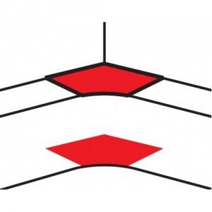 Угол внутренний переменный от 80° до 100° - для кабель-каналов DLP 50х105 - белый