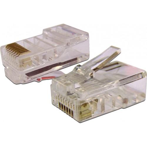 TWT Коннектор RJ45 UTP 8P8C, универсальный, cat.5e, 100 шт. TWT-PL45-8P8C