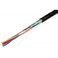 Кабель витая пара экранированная FTP (F/UTP), категория 3, 10 пар (24 AWG), одножильный (solid) 305м