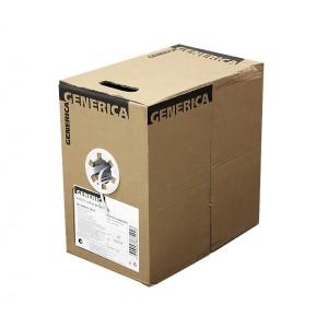 Кабель ITK BC1-C5E04-111-305-G Витая пара U/UTP кат.5E 4х2х24AWG PVC серый GENERICA 305м