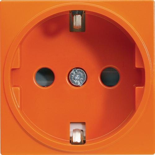 NM Лицевая панель электрической розетки Mosaic 45x45, 2K+3, со шторками, оранжевая NM-EL45x45/T-OR