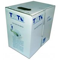 TWT-5EUTP/100-GY Кабель UTP 100 метров, 4 пары, Кат.5e, PVC, серый, витая пара TWT