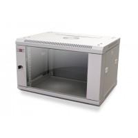 """Шкаф 15U 19"""" настенный MDX 450 мм, дверь стекло, серый,.разборный"""