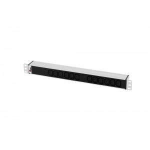 """Блок розеток Rem-32 с инд., 12 IEC 60320 C13, 32А, алюм., 19"""", колодка"""