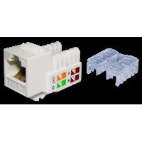 TWT-OK45UTP/5E-WH Модуль Keystone RJ45, Cat.5E, UTP, 90 градусов, белый