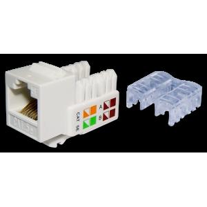 Модуль Keystone RJ45, Cat.5E, UTP, 90 градусов, белый, TWT-OK45UTP/5E-WH
