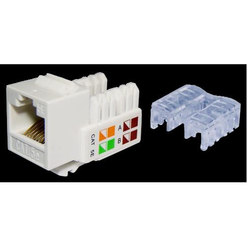 Модуль Keystone RJ45, Cat.5E, UTP, 90 градусов, белый, TWT-OK45UTP/5E-WH TWT-OK45UTP/5E-WH