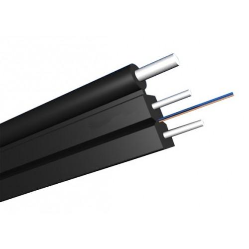 Кабель Дроп оптический 2 волокна одномод, универсальный FTTH с тросом, нг(А)-LS, белый TWT-OFC-FUS2-SU-LS-T
