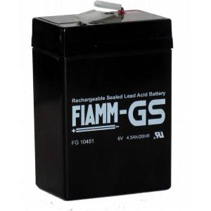 Аккумуляторная батарея Fiamm FG10451 (6V 4.5Ah)