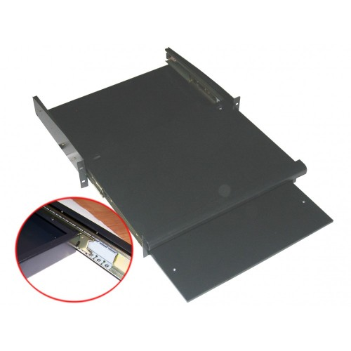 Полка для клавиатуры выдвижная фронтальная, глубина 355мм, 1U, нагрузка - 18 кг TWT-CB-SKF355-1U/18