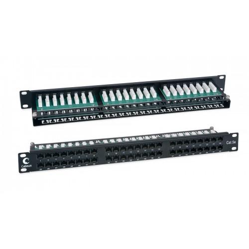 "Патч-панель Cabeus высокой плотности  1U, 48 RJ-45, категория 5e, 19"" PLHD-48-Cat.5e-Dual IDC-1U PLHD-48-Cat.5e-Dual"