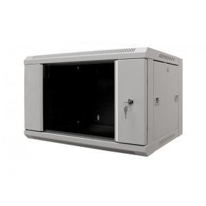 "MDX-SH-6U60-45-GS-GY Шкаф серверный 19"" 6U 600х450 настенный, дверь стекло, серый"