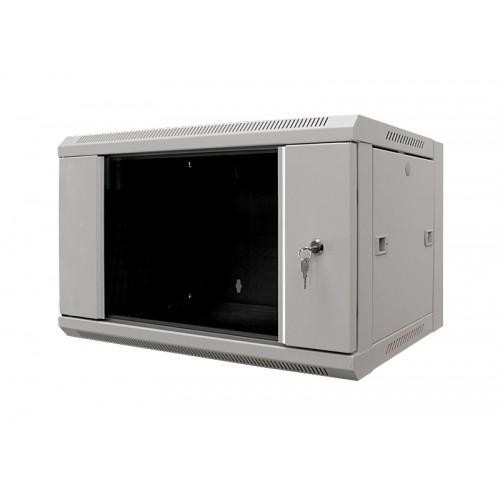 "Шкаф 19"" 6U  600х450 настенный, дверь стекло, серый  MDX-SH-6U60-45-GS-GY MDX-SH-6U60-45-GS-GY"