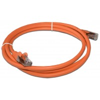 Патч-корд RJ45 кат 5e FTP шнур медный экранированный LANMASTER 10.0 м LSZH оранжевый