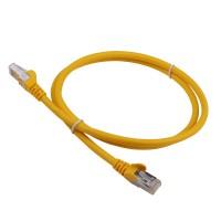 Патч-корд RJ45 кат 6A FTP шнур медный экранированный LANMASTER 1.0 м LSZH желтый