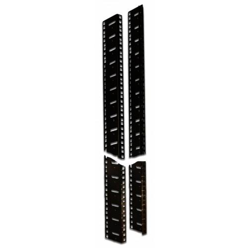 L-направляющие для шкафов серии Business, 42U, 2 шт., черные TWT-CBB-LMP-42U