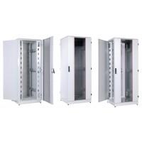 """Шкаф 42U ЦМО 19 """" телекоммуникационный напольный кроссовый 800x800 дверь стекло,задняя металл,перфор"""
