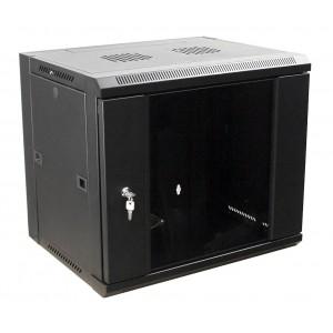 """Шкаф 19"""" 12U настенный, 450 мм, дверь стекло, черный MDX-SH-12U60-45-GS-BK (замена MDX-CW2-12U-6х4)"""