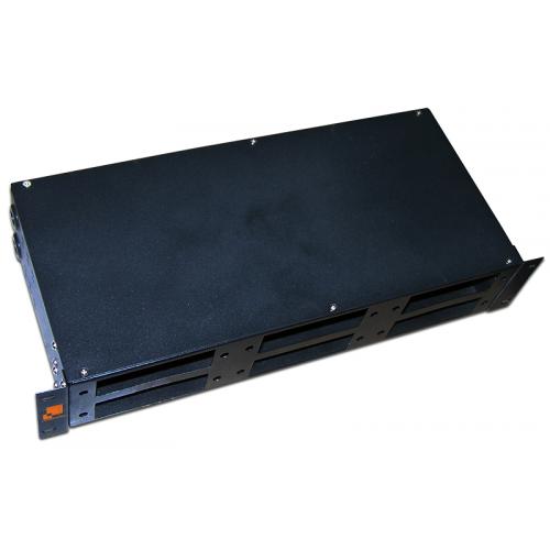 """Кросс оптический LANMASTER 19"""" металлический, 2U на  6 адаптерных панелей LAN-FOBM-RM-6P"""