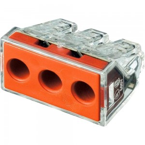 Клемма 3х2.5-6.0мм прозрачная WAGO (50шт в уп)