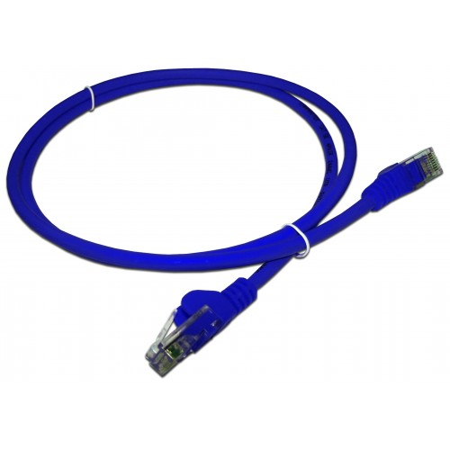 Патч-корд RJ45 UTP кат 5e шнур медный LANMASTER 10.0 м LSZH синий LAN-PC45/U5E-10-BL