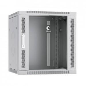 """Cabeus SH-05F-12U60/35 Шкаф 19"""" 12U 350 мм телекоммуникационный настенный дверь стекло"""