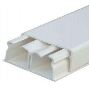 Мини-плинтус DLPlus - 40x16 мм - 2 отделения - длина 2,1 м - белый