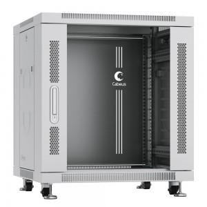 """Cabeus SH-05C-12U60/80 Шкаф 19"""" 12U напольный телекоммуникационный 600x800 серый, разборный стекло"""