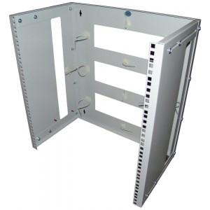 Кронштейн телекоммуникационный настенный 12U, регулируемая глубина 300-450 мм