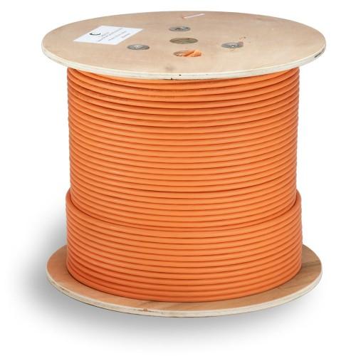 Кабель витая пара экранированная STP (U/FTP), категория 6a (10GBE), 4 пары, (23 AWG), одножильный (solid), каждая пара в экране (305 м) STP-4P-Cat.6a-SOLID-IN-LSZH