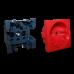 NM Лицевая панель электрической розетки Mosaic 45x45, 2K+3, со шторками, красная NM-EL45x45/T-RD