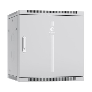 """SH-05F-12U60/35m Шкаф 19"""" 12U Cabeus 7123c 350 мм телекоммуникационный настенный дверь металл"""