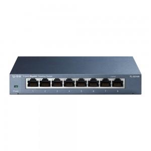 8-портовый 10/100/1000 Мбит/с настольный коммутатор .
