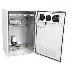 """Шкаф уличный всепогодный 19"""" настенный укомплектованный 18U (Ш600хГ500), комплектация T1-IP54"""